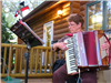 Lady playing Accordion